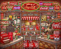 Coca Cola History 1000 Piece Jigsaw Puzzle Official Store of Springbok Jigsaw Puzzles - Coca Cola - Idea of Coca Cola Coca Cola Drink, Cola Drinks, Pepsi, Coca Cola Cooler, Coca Cola Wallpaper, Coca Cola History, Always Coca Cola, Retro Diner, New Puzzle
