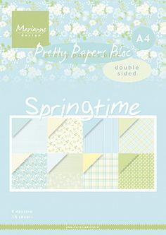 Scrapbooking A4, Marianne Design, Album Photo, Soft Colors, Spring Time, Diy, Pretty, Crafts, Photos