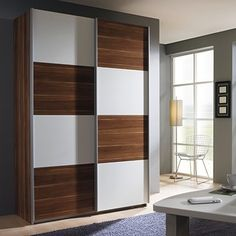 The Quadra 2 Door Sliding Wardrobe - Wardrobes At Barker with 2 Door Sliding Wardrobe Interior Designs 33630 Wardrobe Laminate Design, Wall Wardrobe Design, Sliding Door Wardrobe Designs, Wardrobe Interior Design, Wardrobe Room, Wardrobe Furniture, Door Design Interior, Bedroom Closet Design, Bedroom Furniture Design