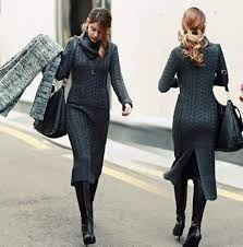 Αποτέλεσμα εικόνας για φορεματα πλεκτα χειμωνιατικα