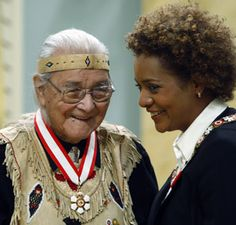 William Commanda (b.1913 d.2011) with then Governor General Michaelle Jean