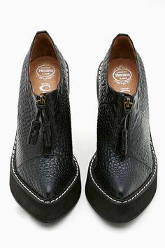 Jeffrey Campbell Fink Platform Bootie - Black - Sale: 60% Off and Up | Heels | Platforms