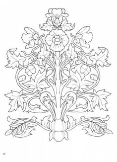 ru / Photo # 74 - floral graphics for creativity - ninmix Motifs Art Nouveau, Art Nouveau Pattern, Art Nouveau Design, Art Deco, Land Art, Art Nouveau Tattoo, Let's Make Art, Floral Logo, Arts And Crafts Movement