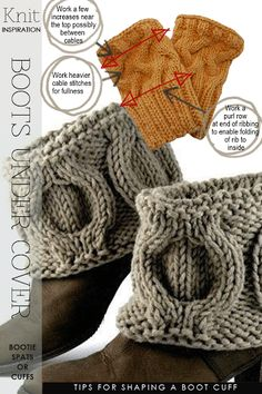 Needlecrafts - Knit, Boot Cuffs                    Images |  Boot Cuffs available for purchase here      Boot toppers are not new fashio...