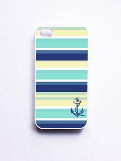 Nautical iPhone 4 Case - Seaside Stripe Anchor. $16.99, via Etsy.