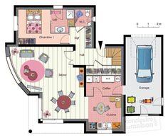Plan habillé Rdc - maison - Maison à énergie positive