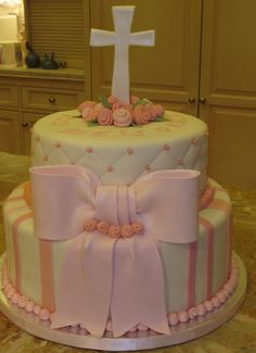 Beautiful cake for a Christening