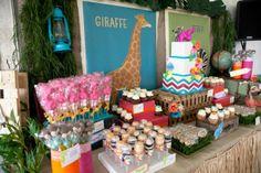 I want to set up a dessert table like this for the shower.