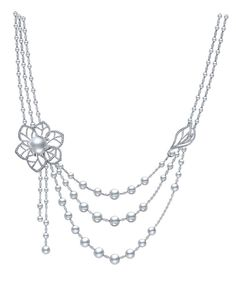 Mikimoto 3 x Strand Floral necklace from the Regalia collection