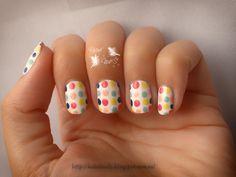 Reto Puntos ~multicolor~ Multicolor Nails dots