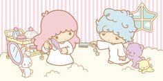 Little Twin Stars ☆ Morning Hair Comb Hello Kitty Characters, Sanrio Characters, Little Twin Stars, Little Star, Badtz Maru, Keroppi, My Melody Wallpaper, Hello Sanrio, Anime Girl Pink