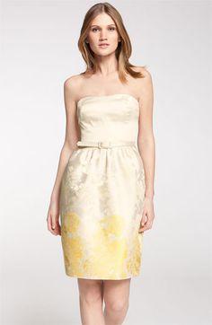 ML Monique Lhuillier Bridesmaids Belted Strapless Sheath Dress (Nordstrom Exclusive) | Nordstrom