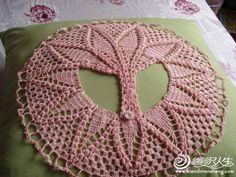 Tejido Facil: Patrón: Chaleco circular rosa diferente y super original! :)