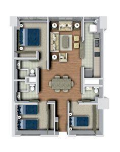 planta arquitectonica de un departamento - Buscar con Google