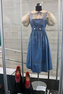 An early auction indication that the prices were reaching the stratospherewas demonstrated inJudy Garland's Adrian-designed pinafore from The Wizard of Oz, hammered down for   $920,000. And this was for an early wardrobe test version that was never worn in the film.