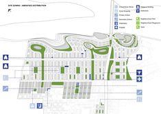Kanpur Riverfront Development Proposal,site zoning - amenities distribution diagram