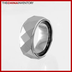 8MM SIZE 14 FACETED TUNGSTEN CARBIDE BAND RING R0914 Cheap Jewelry Boxes, Buy Jewellery Online, Tungsten Carbide, Band Rings, Size 14, Rings For Men, Fashion Jewelry, Wedding Rings, Inspirational