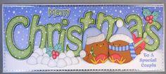 Card Gallery - Large DL CHRISTMAS Robin Love 3D decoupage