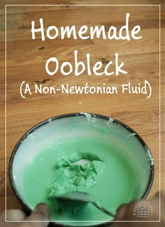 Homemade Oobleck Recipe - A Non-Newtonian Fluid behaves as both a liquid and solid. Makes a great, hands-on science activity for kids. via @researchparent