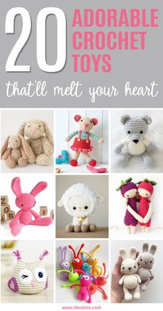 Here are 20 easy and adorable crochet toys that'll melt your heart - you need only basic crochet skills and small amounts of yarn. Makes a perfect gift.