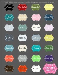 Shabby Paints Chalk-Acrylic Paint Colors. No Priming, No Sanding, No Toxins. Paint Safe!