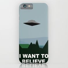 I+Want+To+Believe+minimal+iPhone+&+iPod+Case+by+Bill+Pyle+-+$35.00