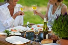 Outdoor dining in the city: Dîner en Blanc, Food Cart Fest, patios, picnics, and Pesto Pasta, Paella, Pesto Genovese, Grill Dessert, Wine Chillers, Bbq, Outdoor Dining, Panna Cotta, Table Decorations