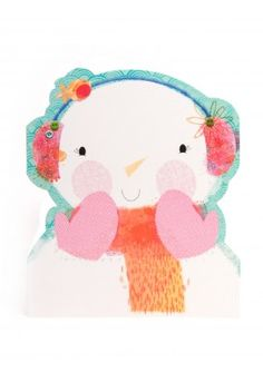 Simply Blushing Snow Lady Christmas Card