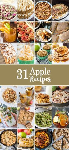 31 APPLE RECIPES FOR FALL! The best Apple Recipes for autumn, including desserts, appetizers, drink, and more! Easy apple recipes for every occasion!
