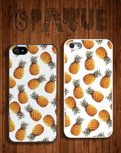 White Pineapple Apple iPhone 5 5s & 4 4s Durable by OpaqueApparel, £5.95