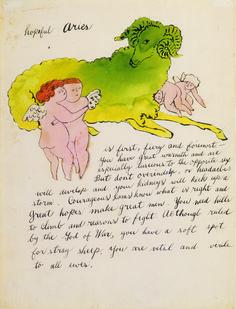 Hopeful Aries, Andy Warhol, Circa 1959 #andywarhol