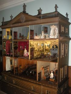 Dolls' House | Nostell Priory Conservation Blog (jt-really like this view of the Nostell Priory Dolls House - click through to the blog to see lots of interesting pics of the rooms getting a spring clean!)