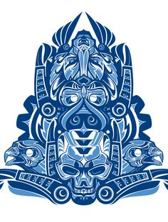074 - Haida Study by Joshua M. Smith, via Behance