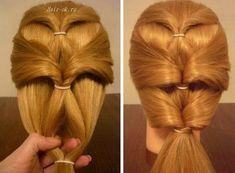 Une coiffure simple pour les cheveux mi longs | Coiffure simple et facile