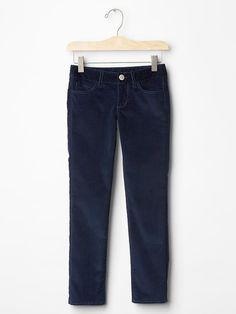 Girl Super Skinny Stretch Cords Corduroy Navy  Blue 1969 GAP 12 18 $34.95 #GapKids #SlimSkinny #Everyday