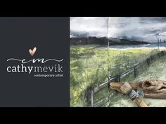This video shows you my process when creating an abstract landscape painting in my dylusions art journal. Materials used: Acrylic paint, Gesso, and charcoal. Abstract Landscape Painting, Landscape Paintings, Contemporary Artists, Acrylics, Youtube, Videos, Art, Watercolor, Abstract