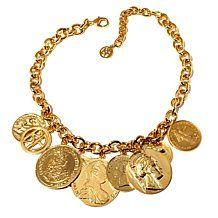 "Ben-Amun ""Gypsy Rhapsody"" Coin-Design Dangle Necklace"