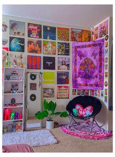 Indie Room Decor, Cute Bedroom Decor, Room Design Bedroom, Room Ideas Bedroom, Aesthetic Room Decor, Bedroom Inspo, Cool Room Decor, Chambre Indie, Retro Room
