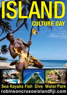 Robinson Crusoe Island Fiji - Culture Day  For a day packed with cultural and educational activities, on a tropical island, with the amazing South Pacific Dance Spectacular, transfers and lunch included - a day trip not to be missed!
