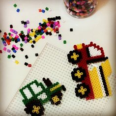 Hama beads truck and tractor
