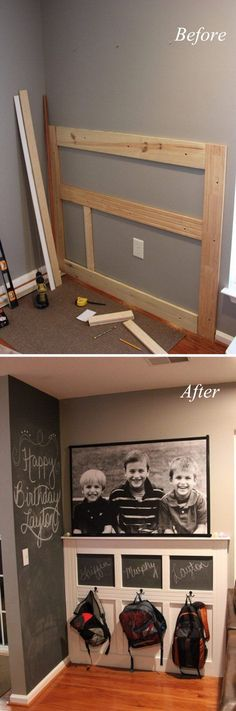 DIY Backpack Wall…