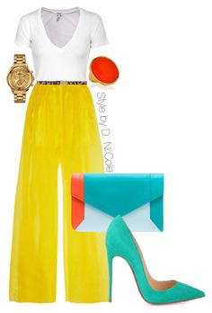 Untitled #2352 by stylebydnicole on Polyvore featuring Splendid, Delpozo, Christian Louboutin, YLIANA YEPEZ, Versus, Kenneth Jay Lane and Dolce&Gabbana