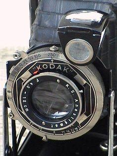 Vintage Folding Camera English Art Deco Kodak Six-16 Model C 616 Roll Film Circa 1930s in Case