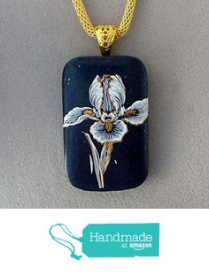 22kt Gold and White Iris Fused Dichroic Glass Pendant Necklace with Gold Plated Bail Ready to Ship A2938 from Lolas Glass Pendants http://www.amazon.com/dp/B015Y39XWS/ref=hnd_sw_r_pi_dp_EfYrwb12ESRBJ #handmadeatamazon