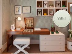 Trendy home office planejado casal ideas Home Bedroom, Bedroom Decor, Trendy Home, New Room, Style At Home, Interiores Design, Home Office, Small Spaces, Furniture Design