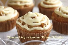 These great banana muffins get kicked up a notch with this easy banana icing recipe