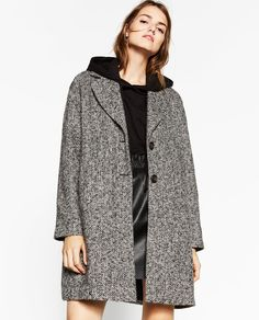 COAT WITH WRAPAROUND COLLAR-View all-OUTERWEAR-WOMAN | ZARA United States