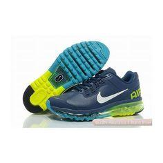 3673995e592e Nike Air Max 2013 Mens Leather Blue White Sneakers Nike Fashion Outfit