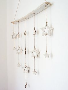 Rustic cottage star mobileLARGE handmade. by LaNiqueHOME on Etsy, €40.00