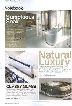 Onyx basins from Lapicida lapicida.com Designer Kitchen & Bathroom August 2014